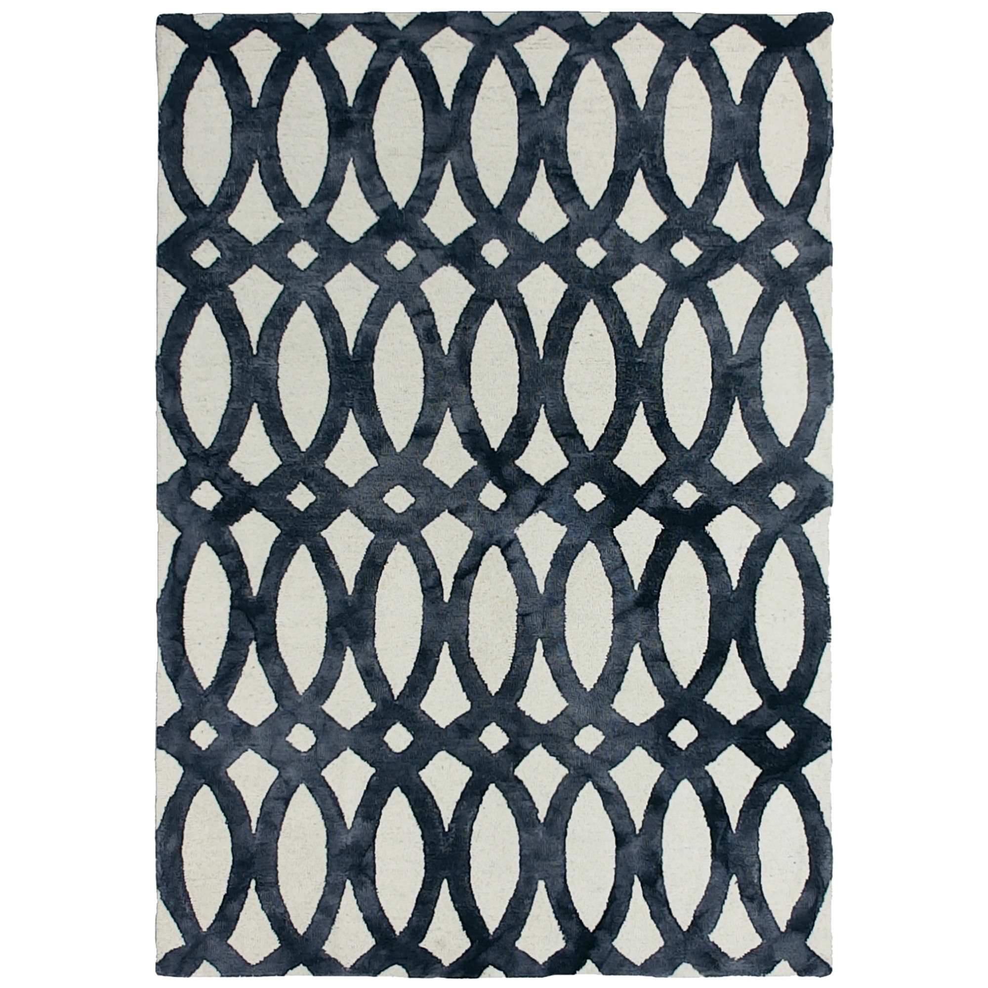 Dip Dye Hand Tufted Wool Rug, 250x300cm, Charcoal