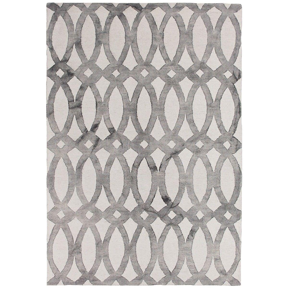 Dip Dye Hand Tufted Wool Rug, 160x230cm, Grey
