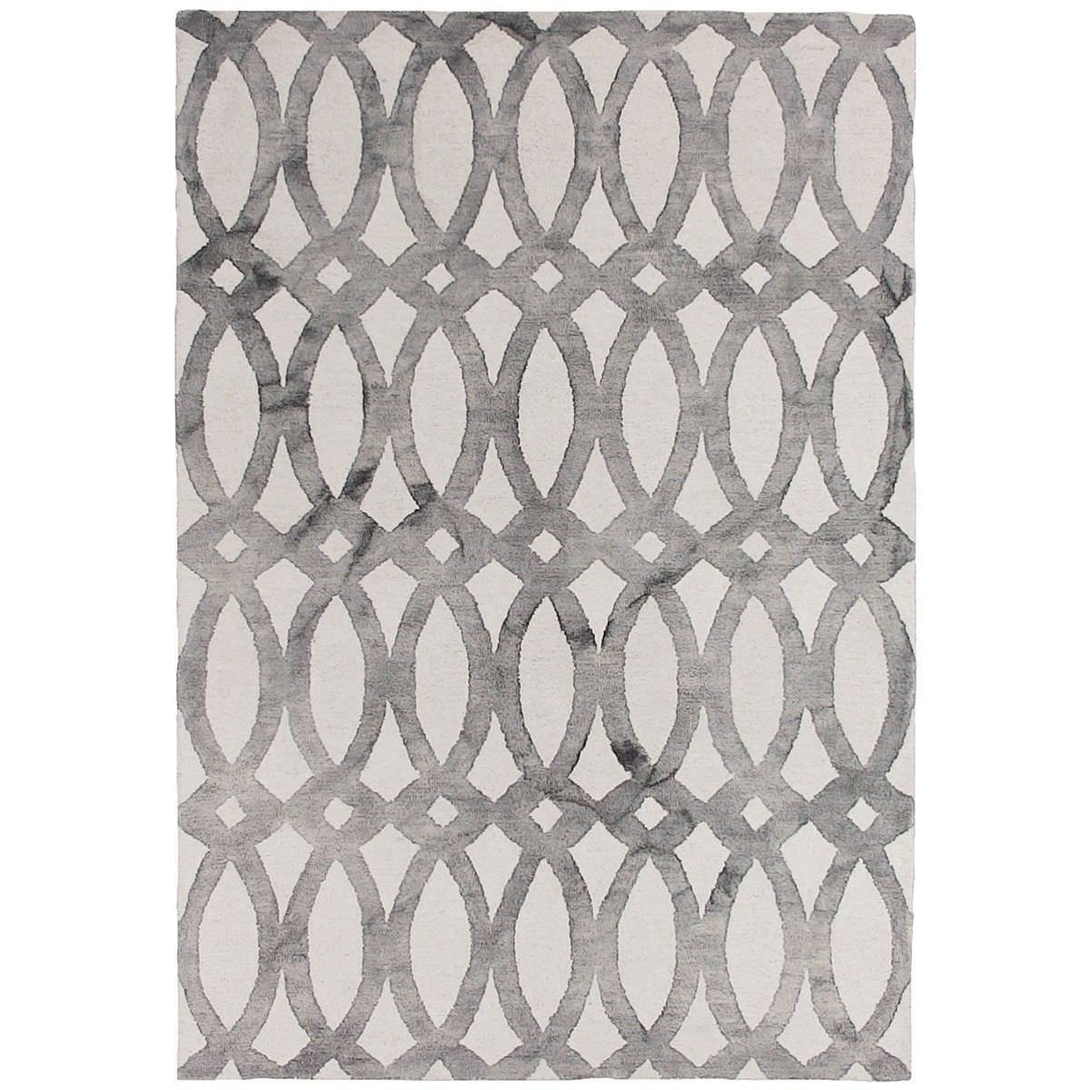 Dip Dye Hand Tufted Wool Rug, 300x400cm, Grey