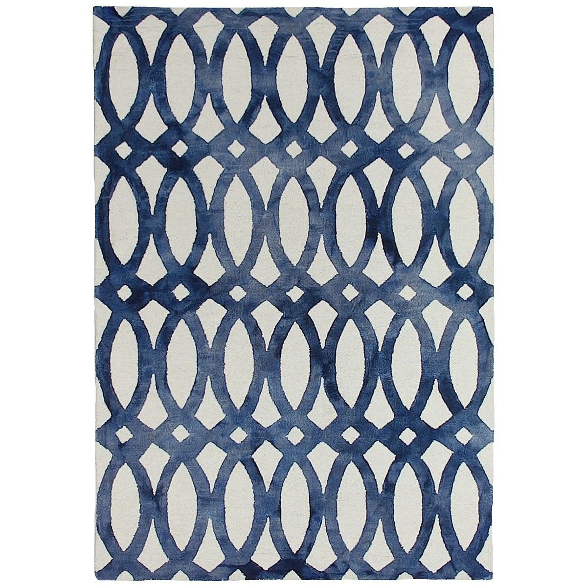 Dip Dye Hand Tufted Wool Rug, 200x300cm, Navy