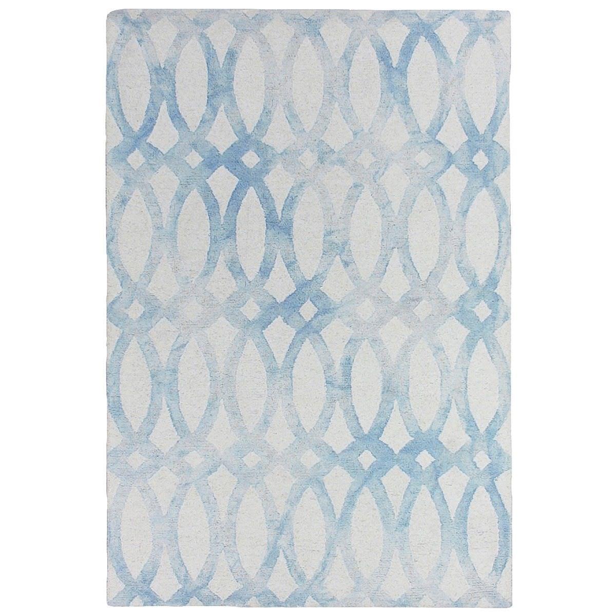 Dip Dye Hand Tufted Wool Rug, 160x230cm, Blue