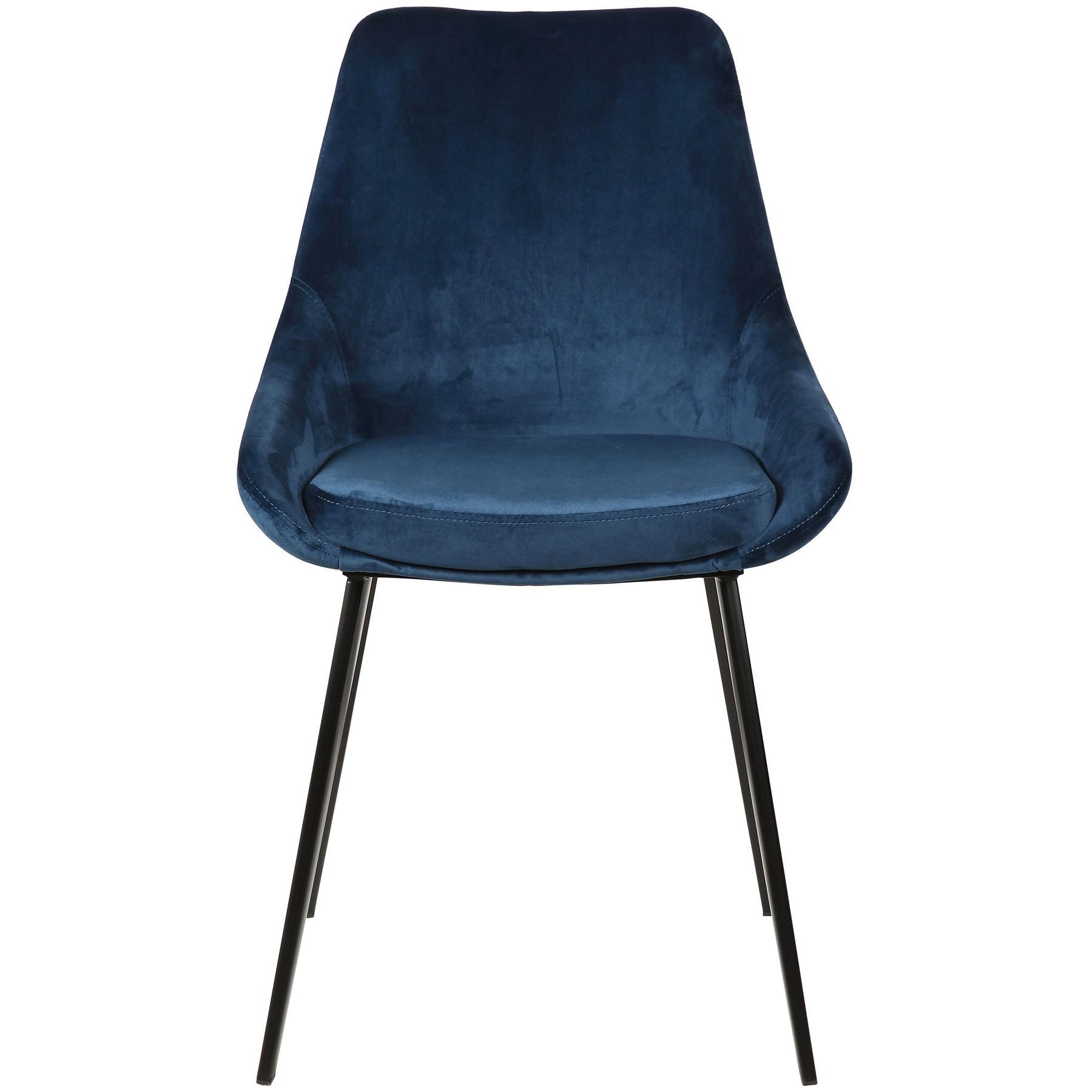Domo Commercial Grade Velvet Fabric Dining Chair, Navy