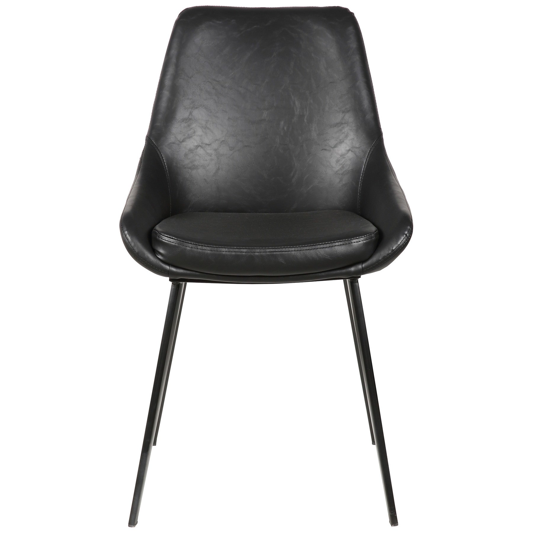 Domo Commercial Grade Faux Leather Dining Chair, Black