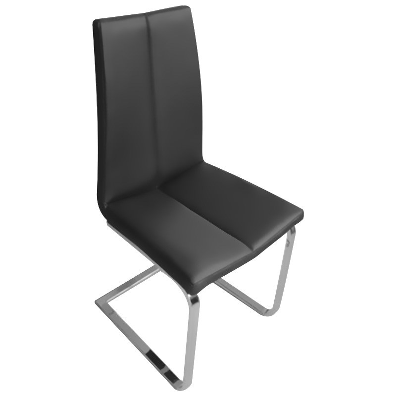 Marmo PU Leather Dining Chair, Black