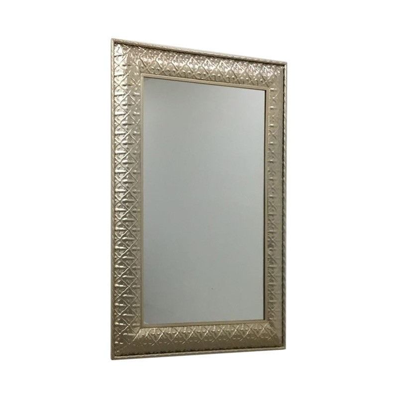 Amy Metal Frame Wall Mirror, 100cm, Champagne Gold