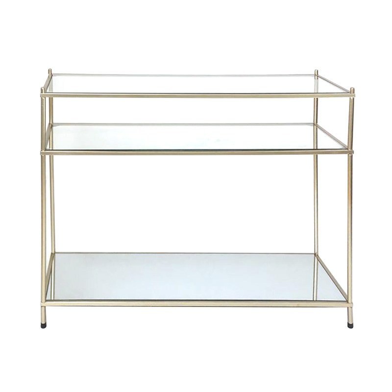 Alisa Glass & Metal Console Table, 107cm