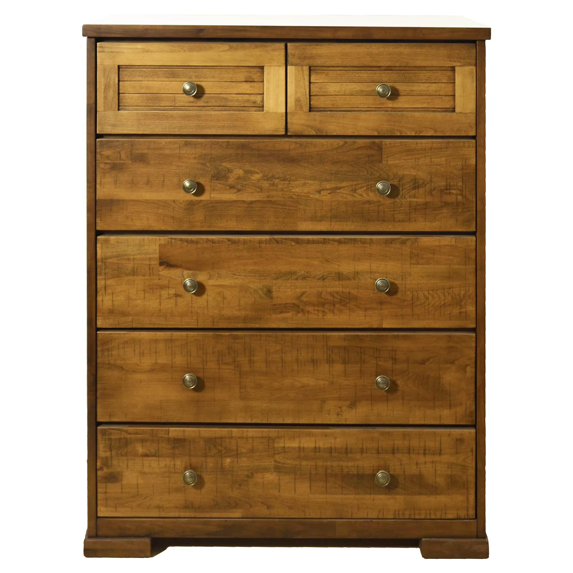 Ansley Mountain Ash Timber 6 Drawer Tallboy