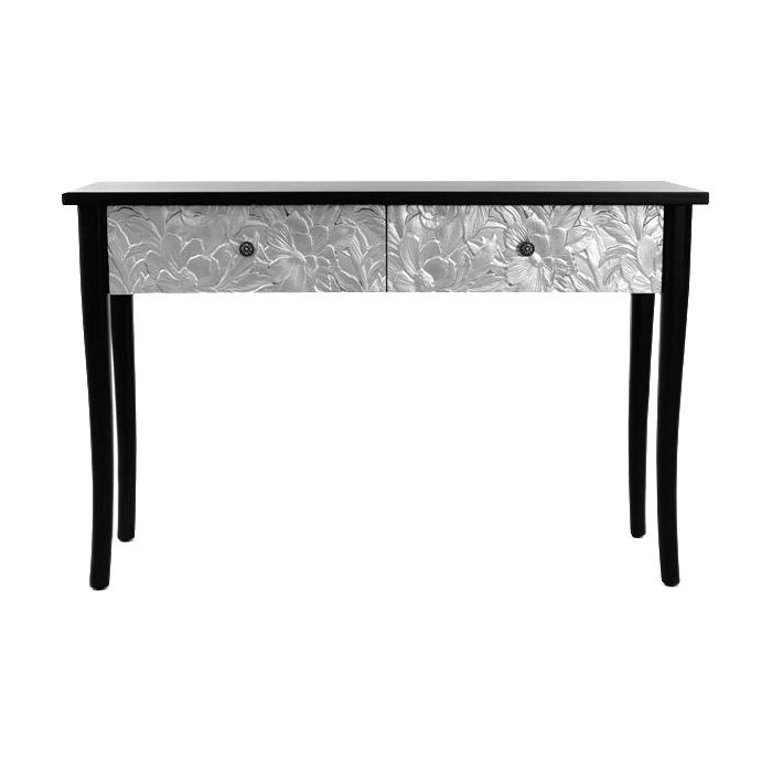 Eddy Timber Console Table, 120cm, Black