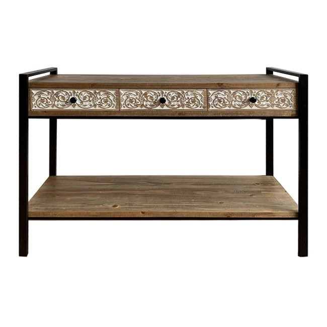 Aspen Timber & Metal Console Table, 120cm