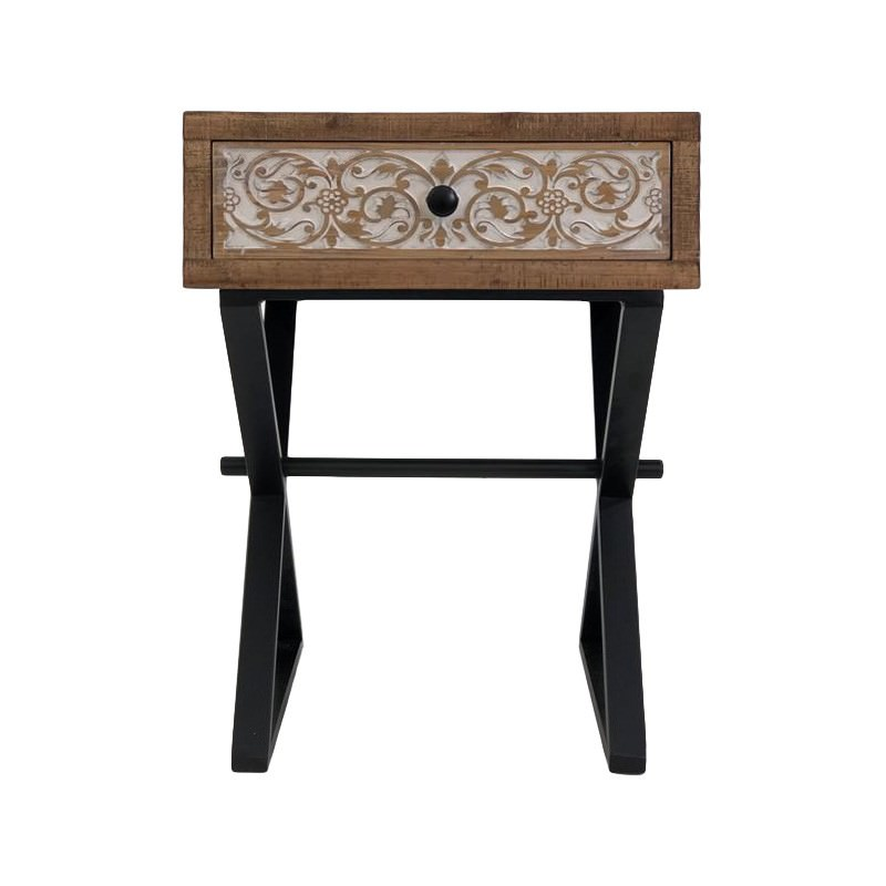 Aspen Timber & Metal Side Table