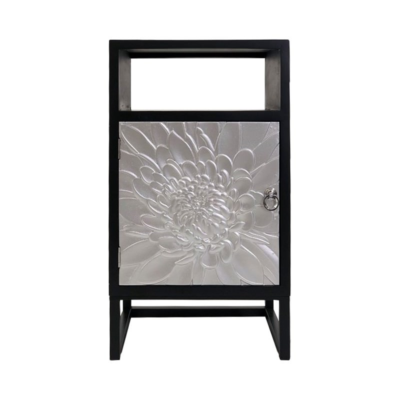 Eddy Timber 1 Door Accent Cabinet, Black