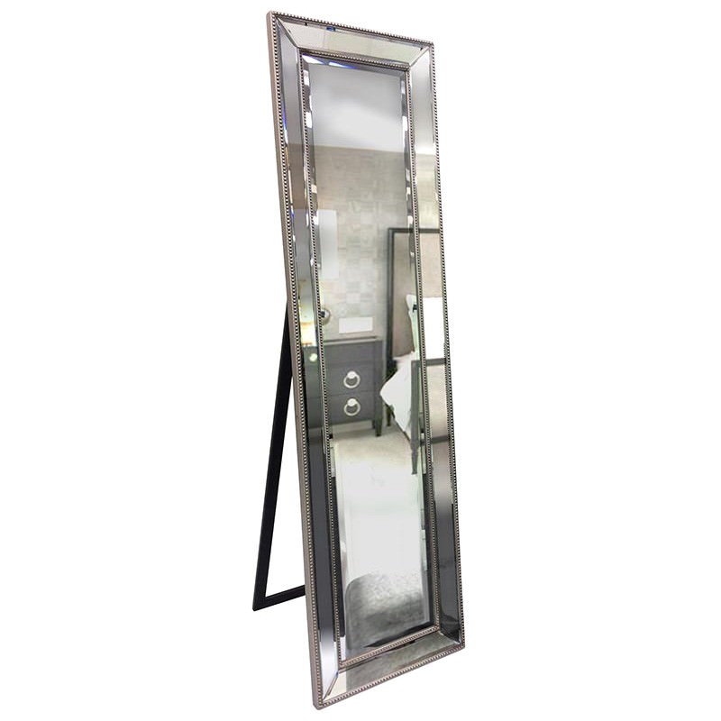 Corrina Cheval Mirror,164cm, Silver