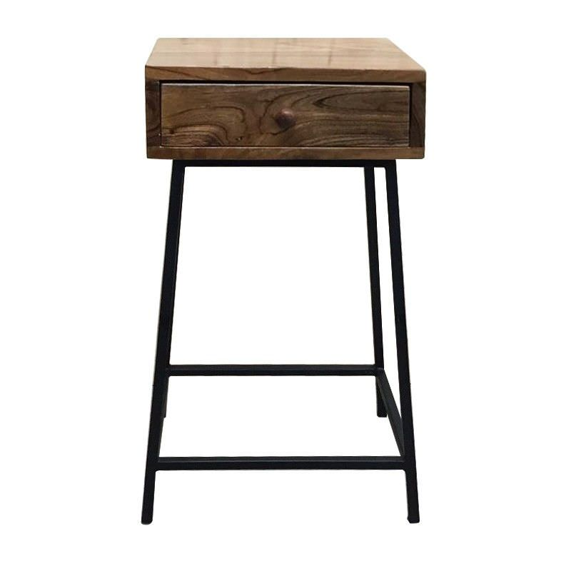 Billy Mango Wood Amp Iron Bedside Table