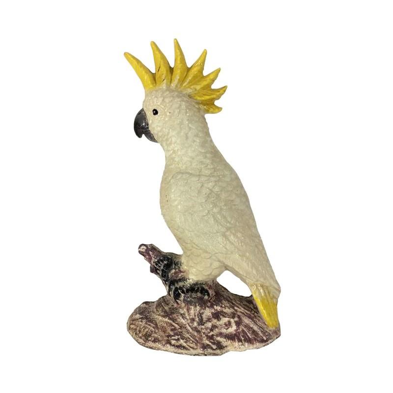 Cindy Cast Iron Cockatoo Sculputure Bookend