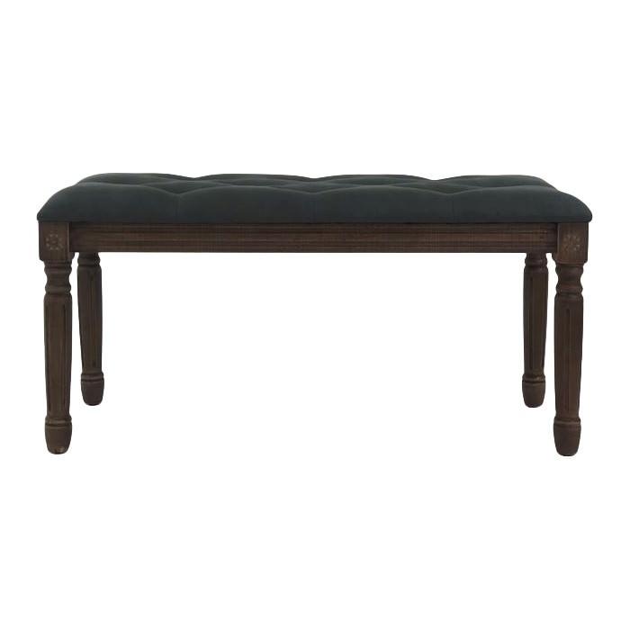 Roksana Fabric & Timber Ottoman Bench, 100cm, Dark Grey