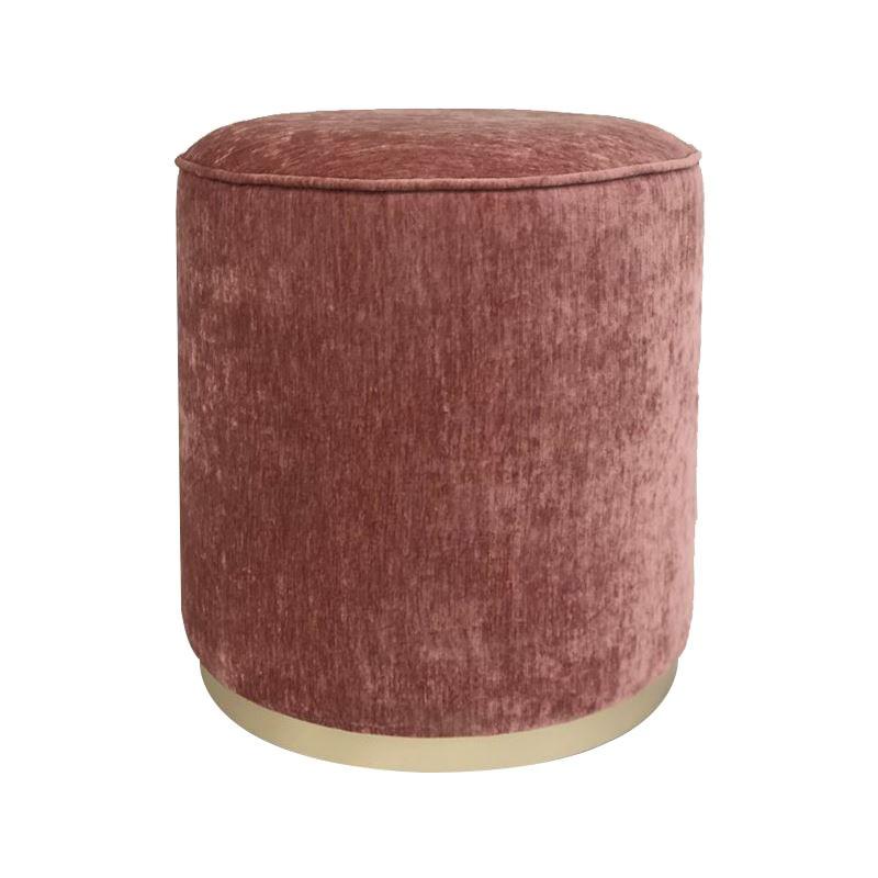 Scully Fabric Round Ottoman, Blush