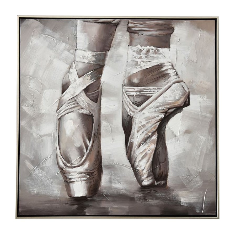 Tippy Toe Framed Canvas Wall Art, 80cm