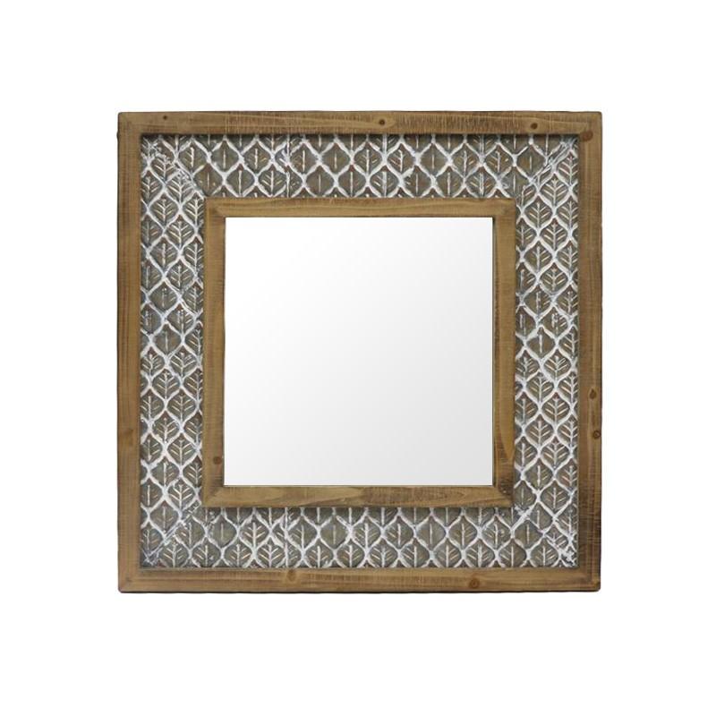 Maiya Wooden Frame Wall Mirror, 100cm