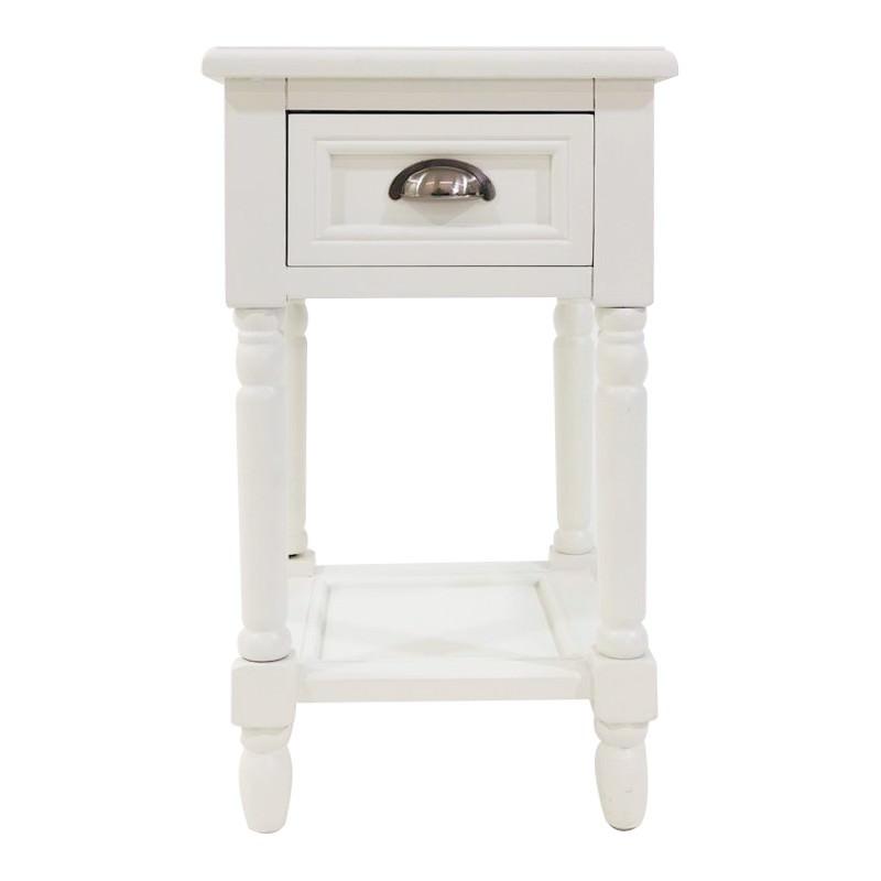Katy Bedside Table, White