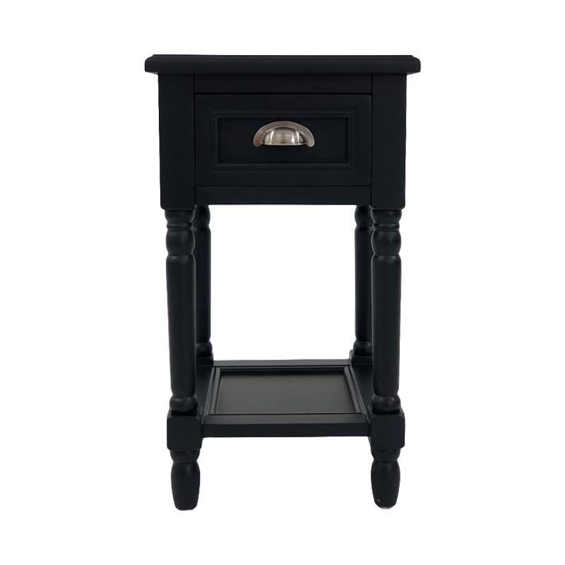Katy Bedside Table, Black