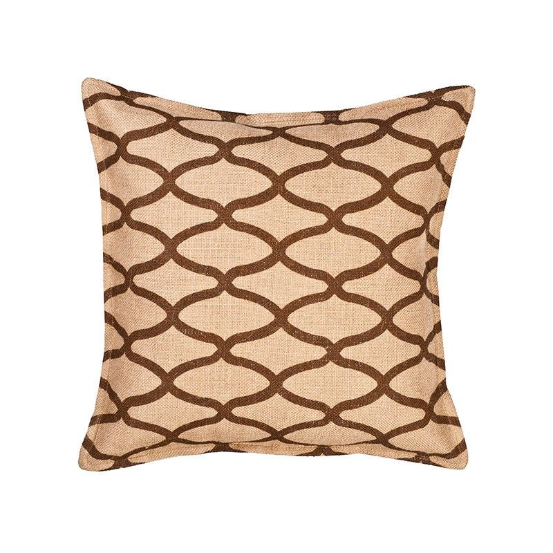 Westie Washed Burlap Scatter Cushion, Brown Wave