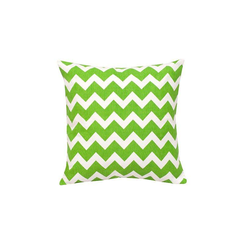 Mossman Chevron Cotton Canvas Scatter Cushion, Green