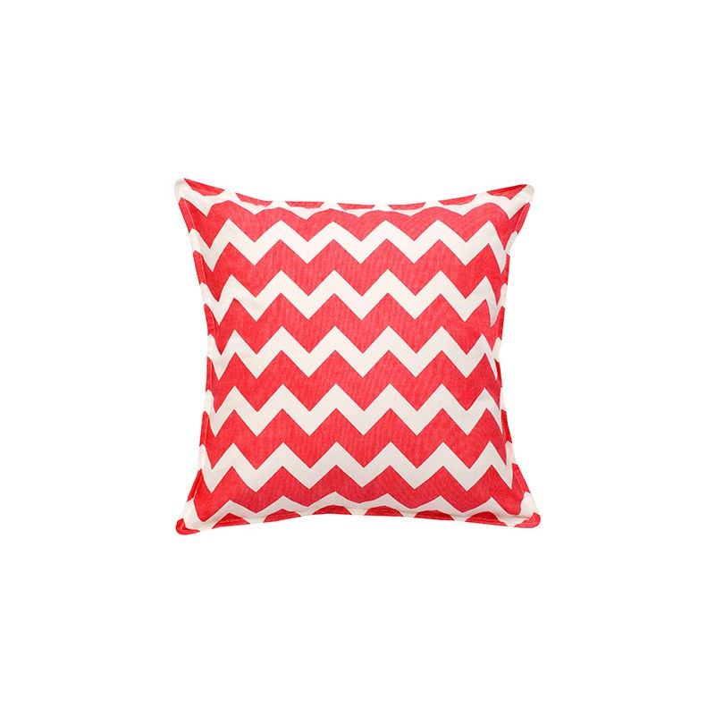 Mossman Chevron Cotton Canvas Scatter Cushion, Pink