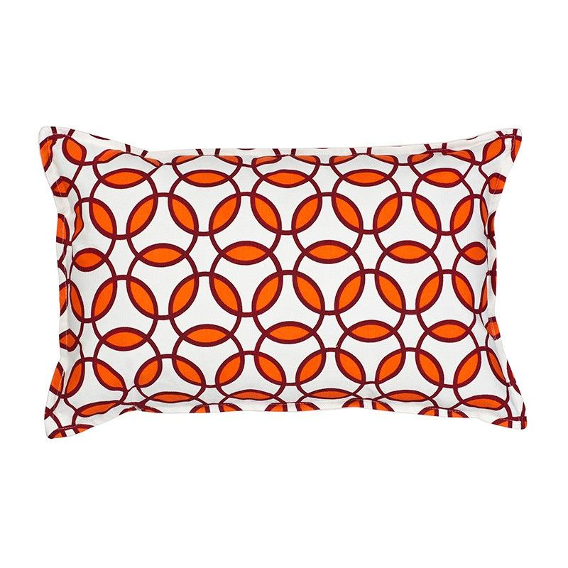 Mossman Rings Cotton Canvas Lumbar Cushion, Orange