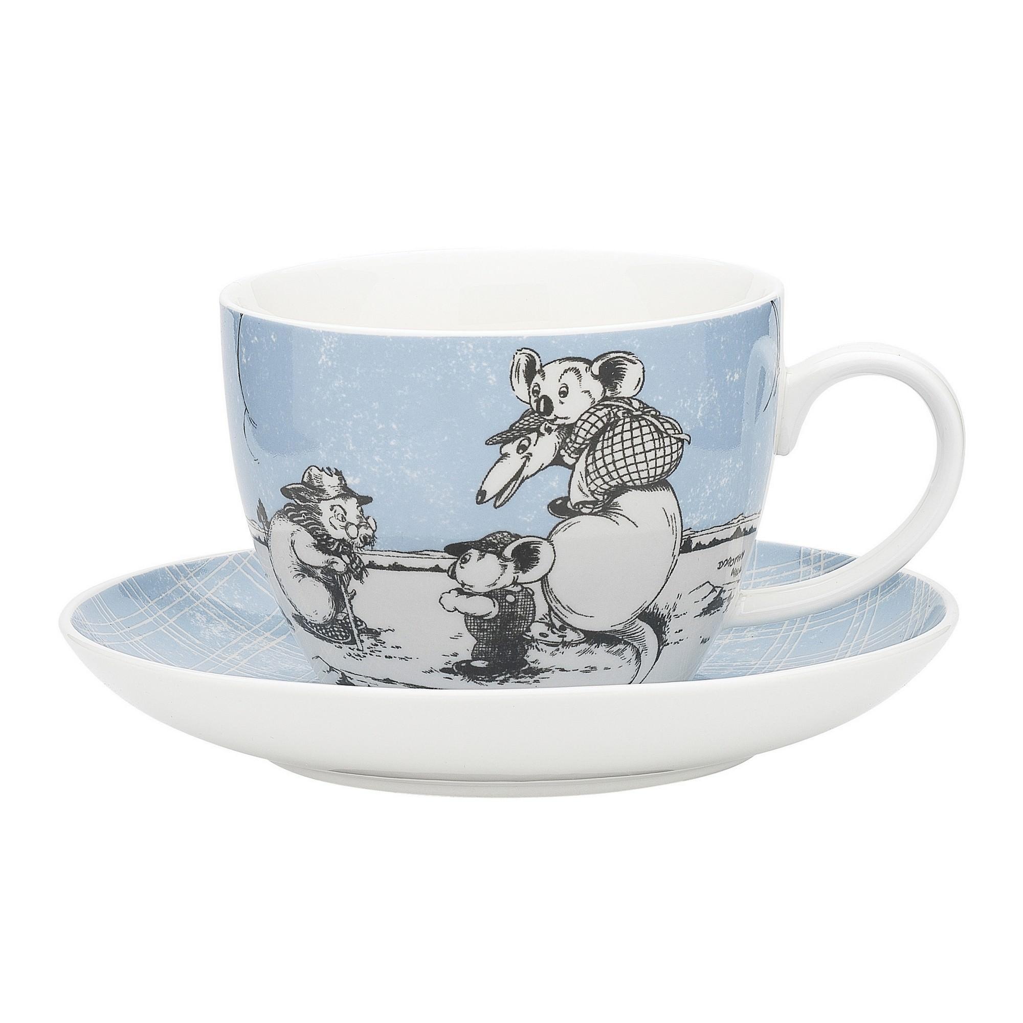 Ecology Blinky Bill New Bone China Cup & Saucer Set, Blue