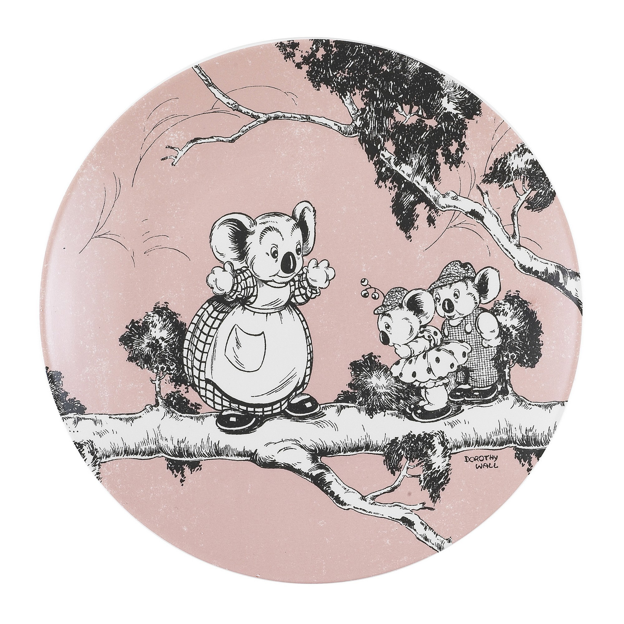 Ecology Blinky Bill New Bone China Side Plate, Coral
