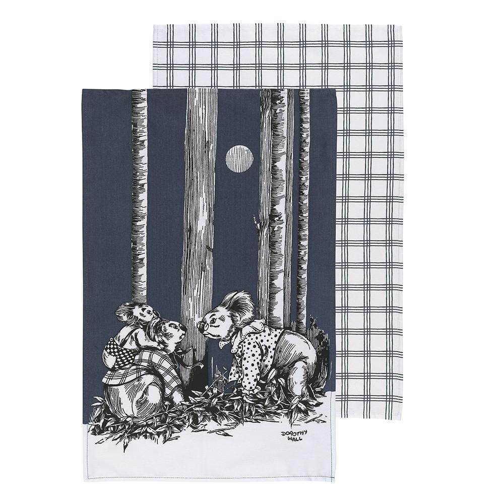 Ecology Blinky Bill Cotton Tea Towel, Set of 2, Ink
