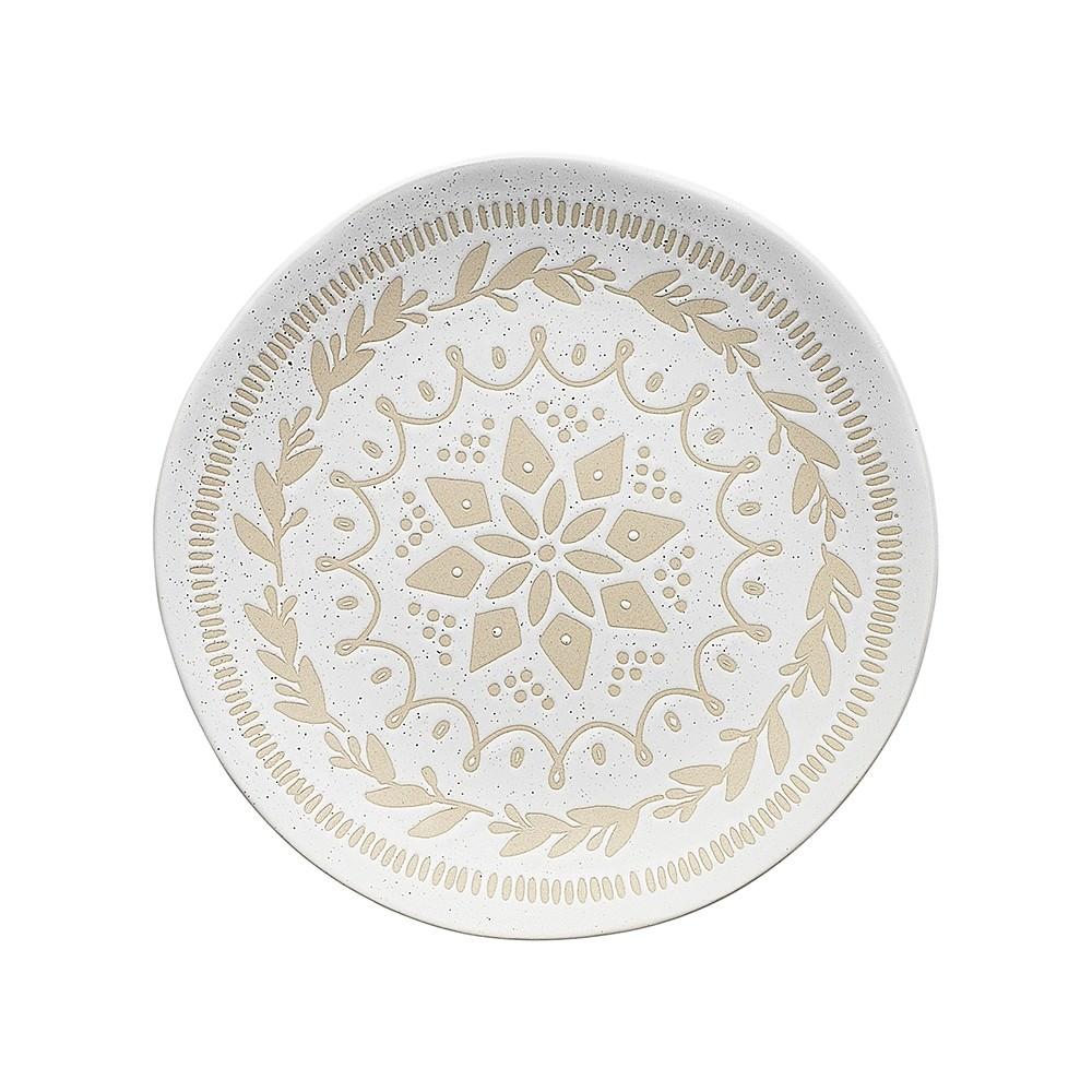 Ecology Shortbread Stoneware Side Plate, Wreath