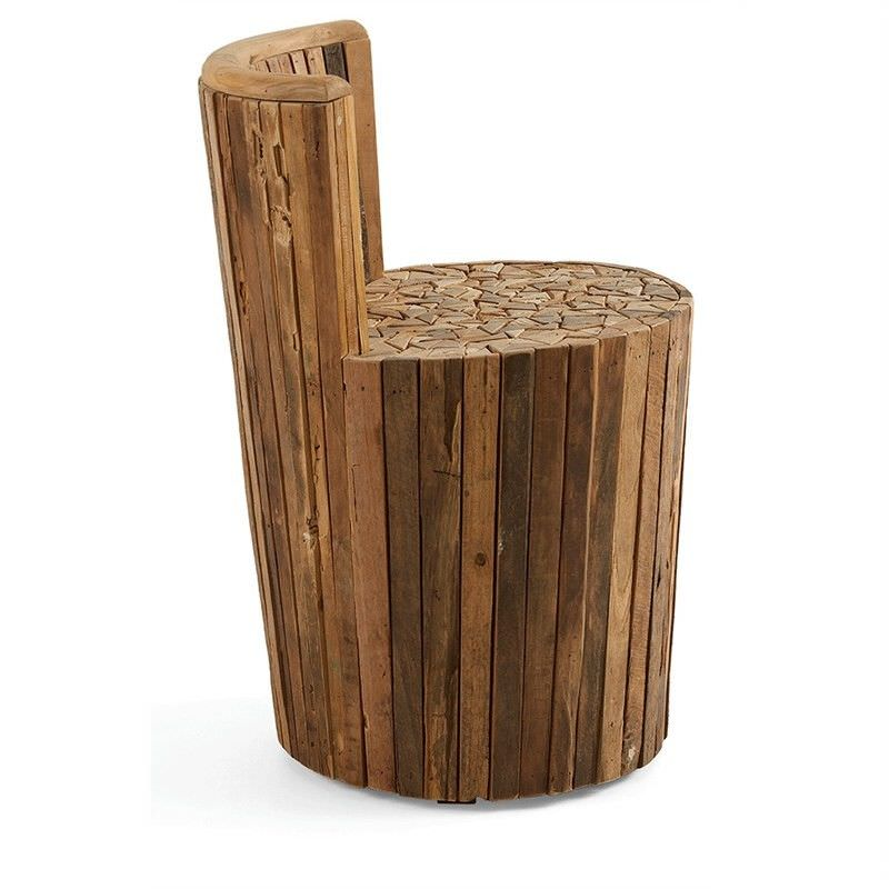 Emerson Solid Teak Timber Accent Stool