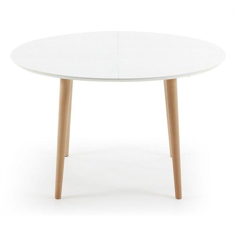 Dallington 120-200cm Extendable Oval Dining Table - White/Natural