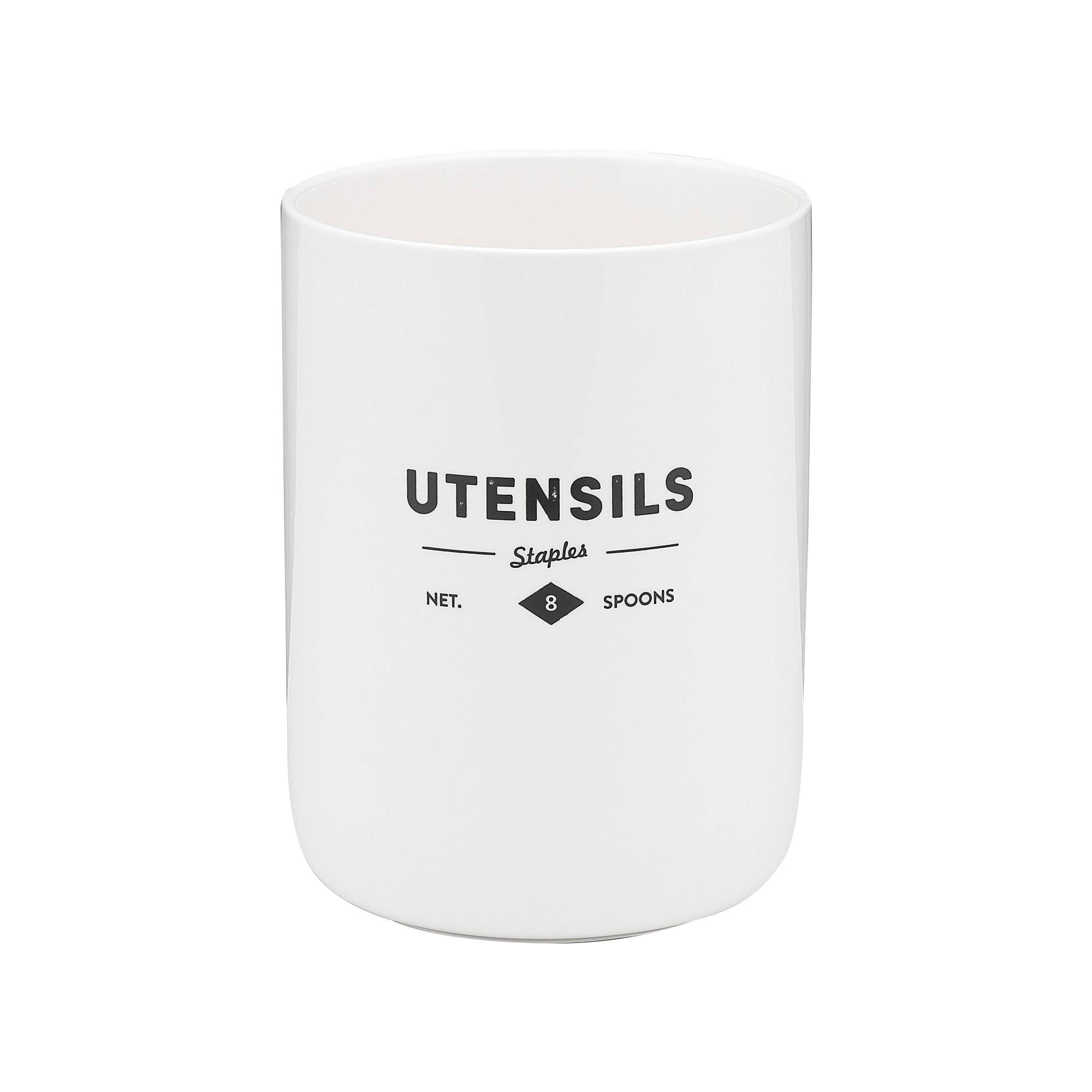 Ecology Staples Foundry Porcelain Porcelain Utensil Holder