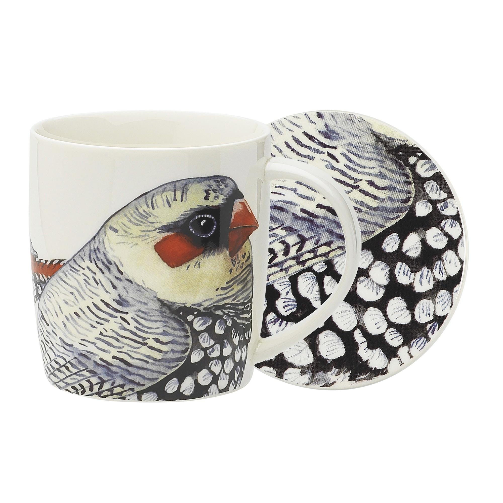 Ecology Paradiso New Bone China Mug & Coaster Set, Firetale