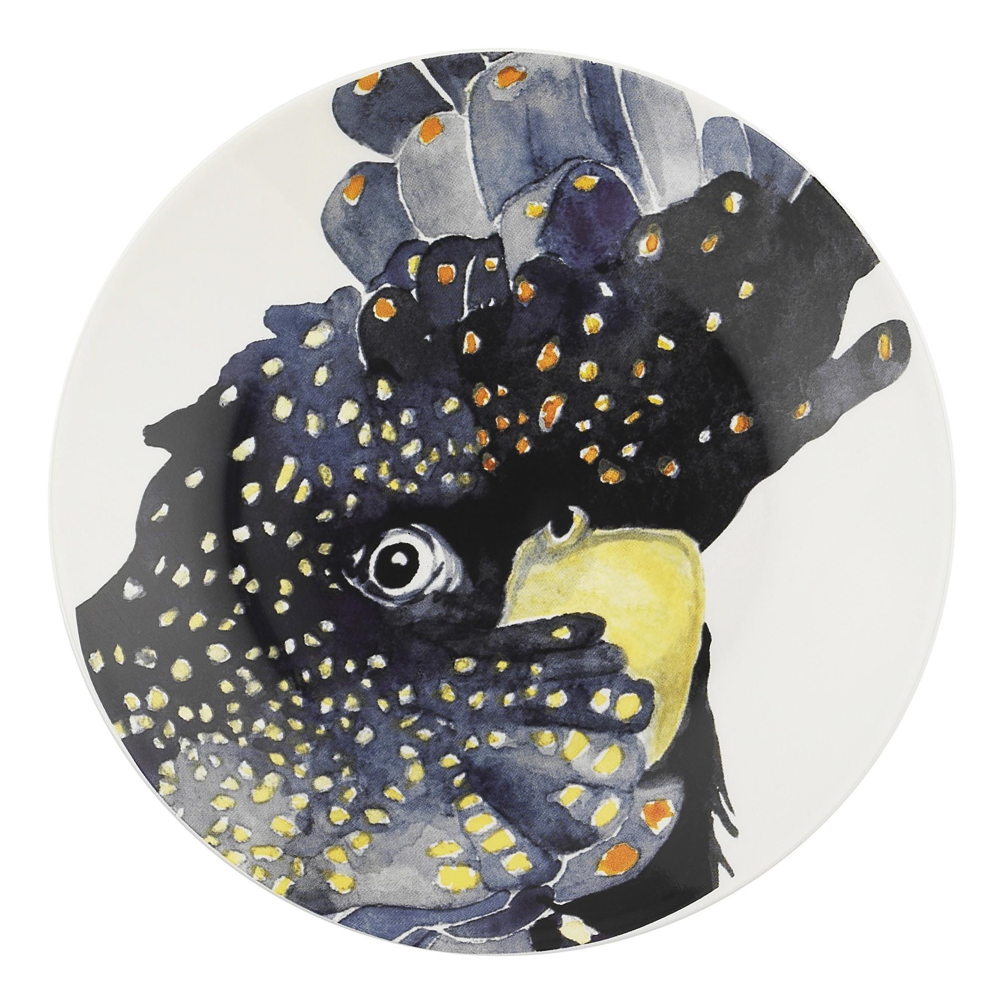 Ecology Paradiso New Bone China Side Plate, Cockatoo