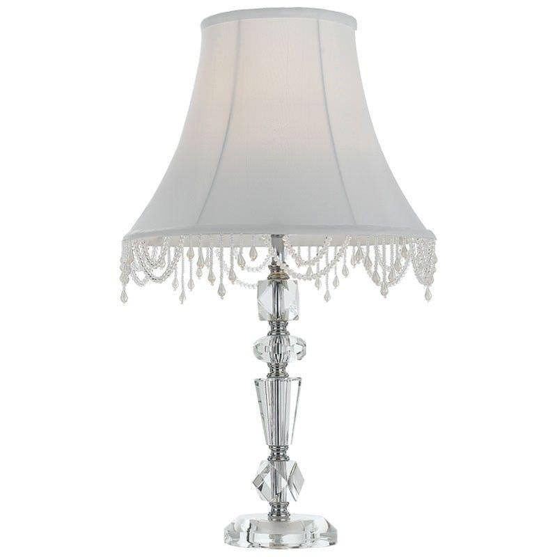 Eden Glass Base Table Lamp, Chrome