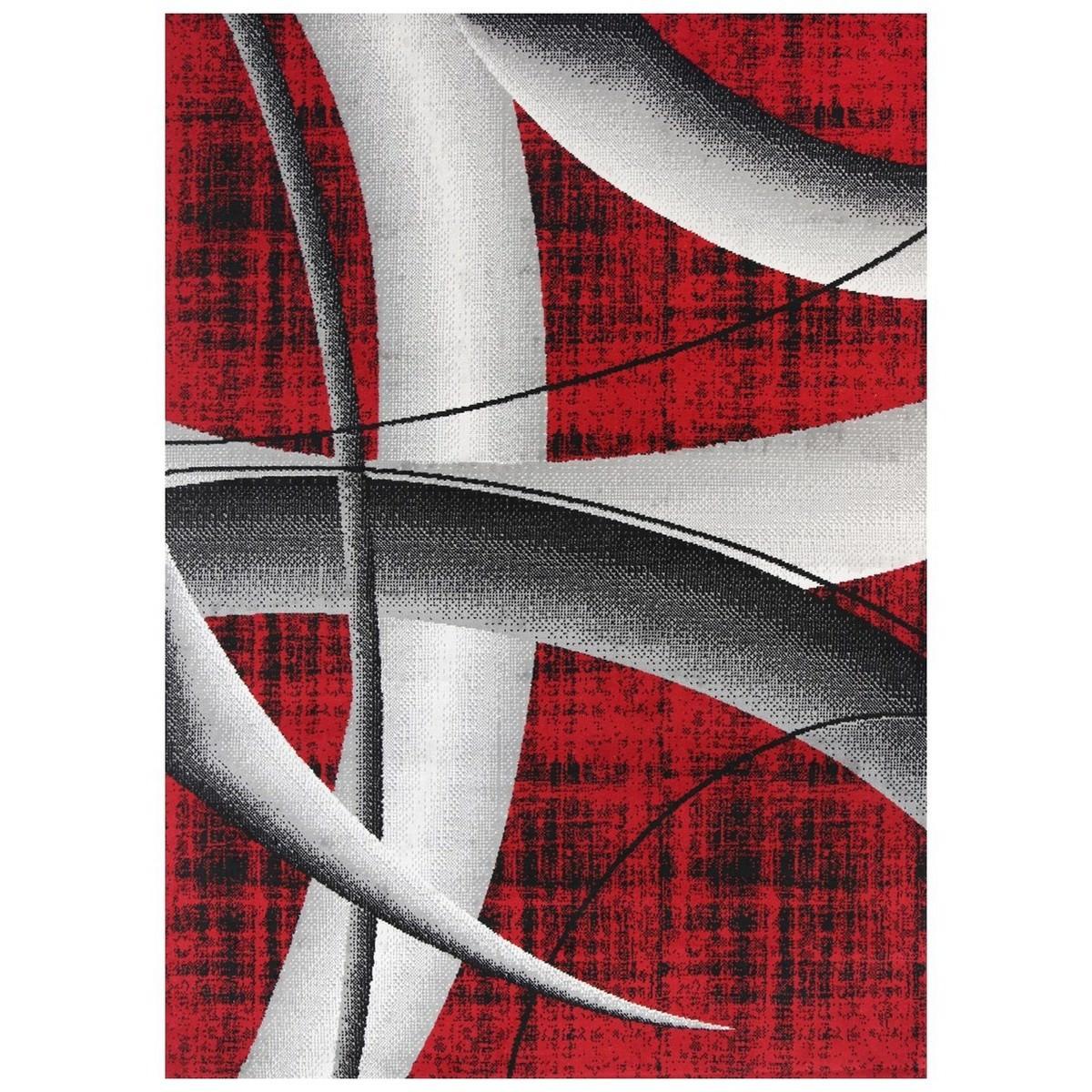 Allure Artistic Modern Rug, 160x230cm, Red