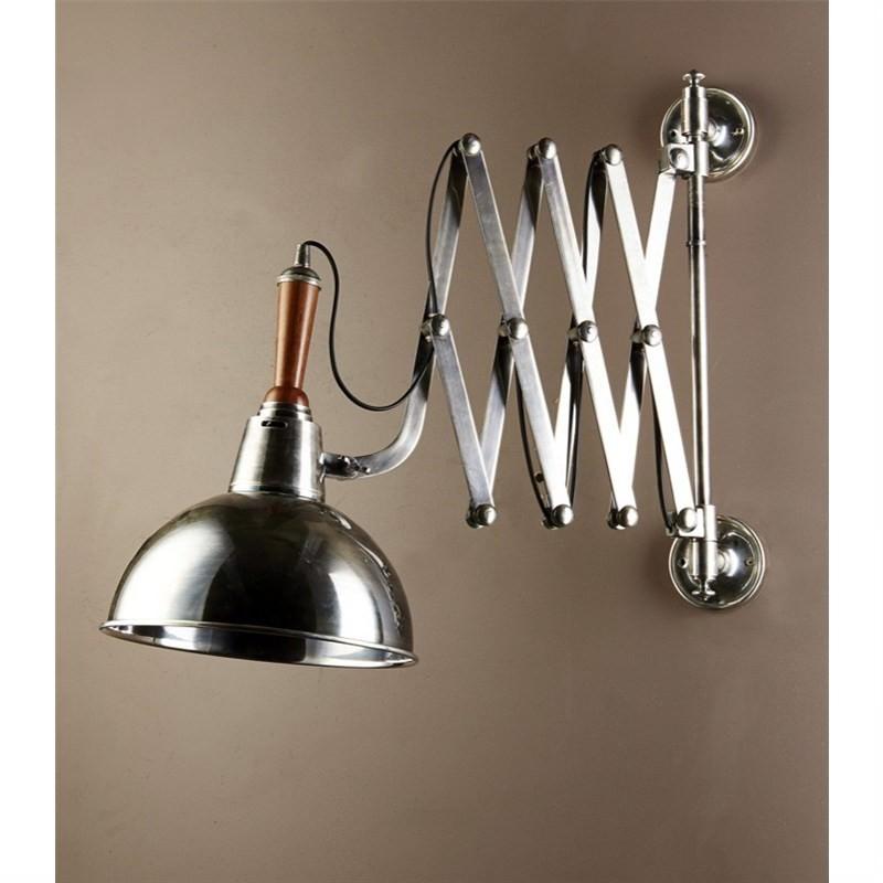 Rosendal Wall Scissors Lamp in Silver