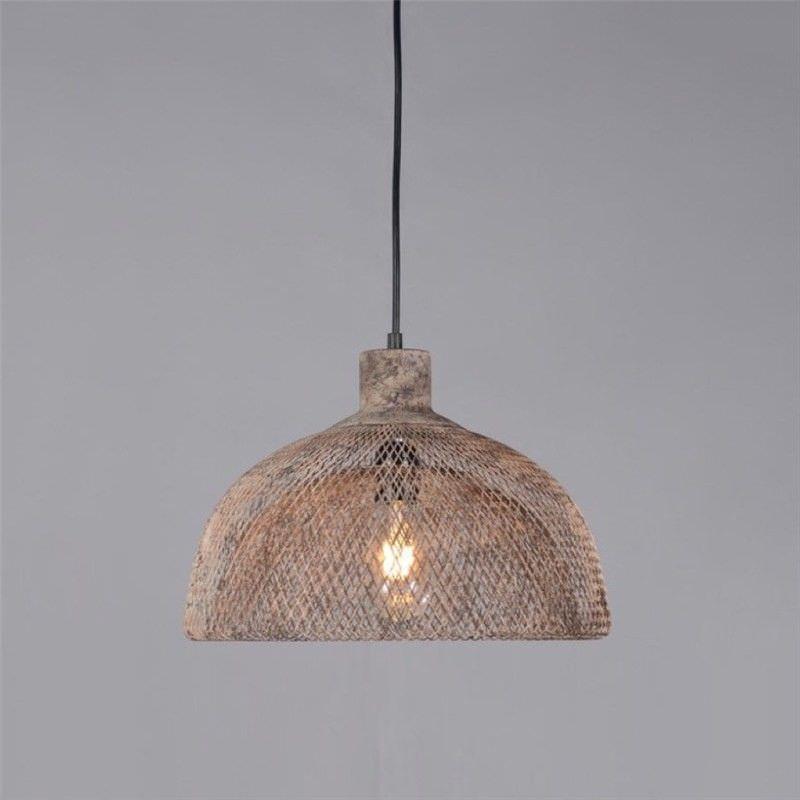 Valentino Rustic Metal Pendant Light, Medium