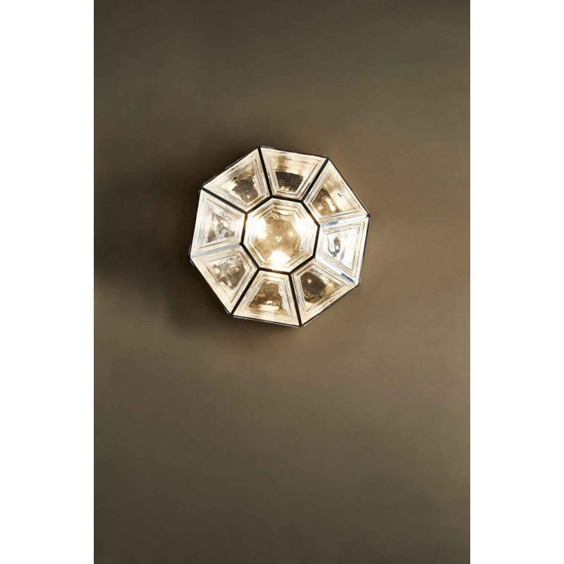 Westham Metal & Glass Ceiling Light