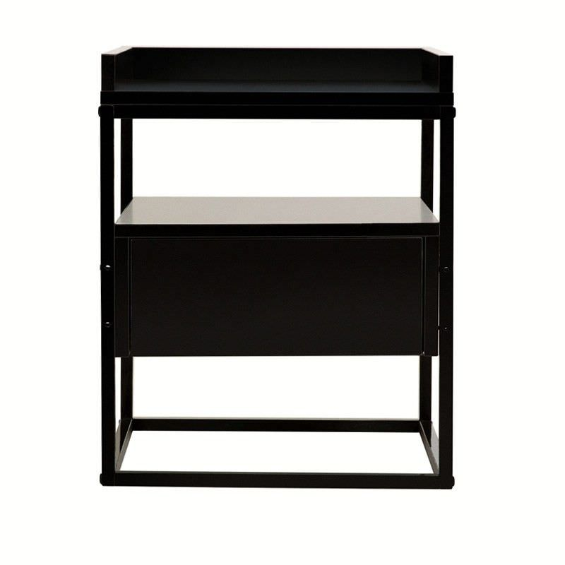 Emmas Robert Bedside Table - Black
