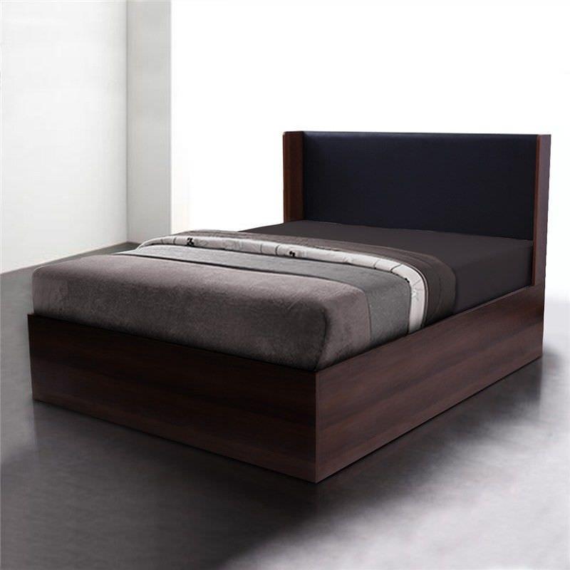 Emmas Lux Queen Size Platform Bed - Walnut