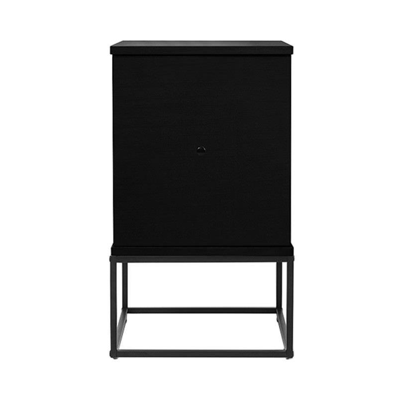 Gordon Bedside Table with Door, Black