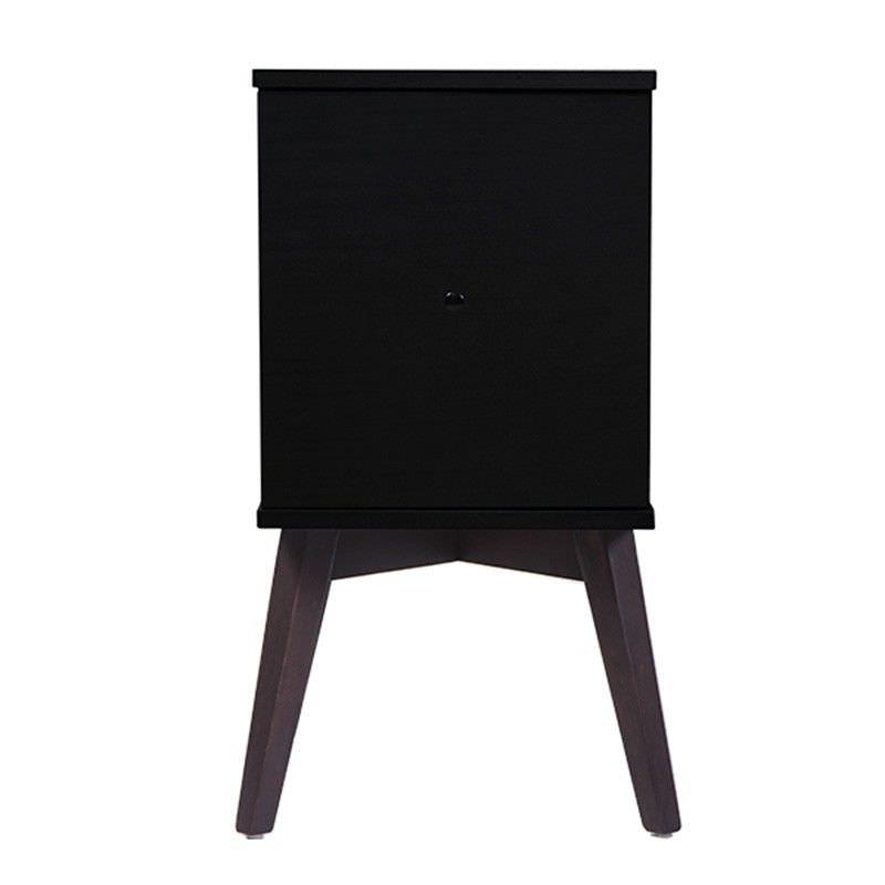 Missie Bedside Table with Door, Black