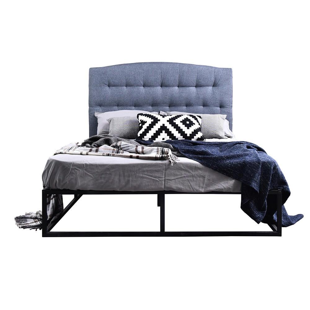 Wilkie Fabric & Metal Platform Bed, Queen