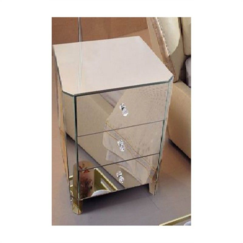 Emerald Bedside Table in Mirrored