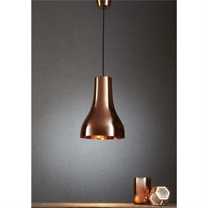 Beaker Metal Pendant Light - Metallic Copper