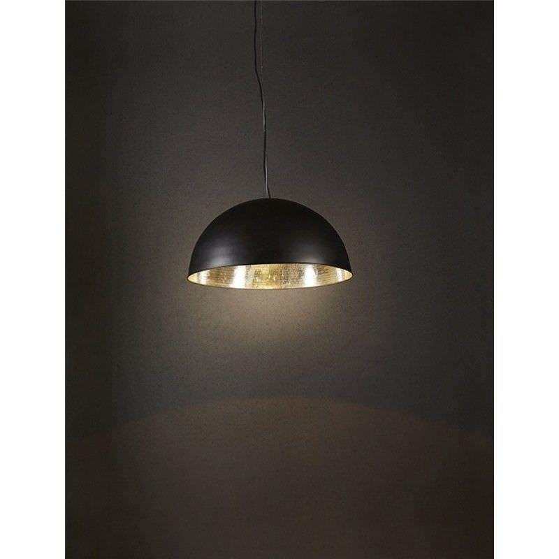 Alfresco Metal Dome Pendant Light - Black/Silver